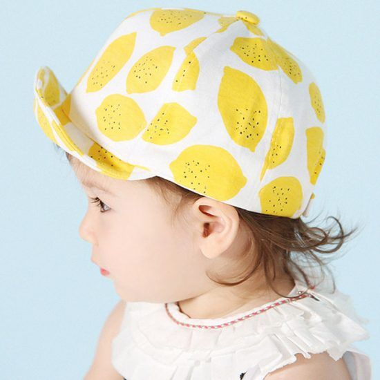 Fashion-Lemon-Print-Children-Hats-Cute-Cotton-Baby-Hat-Summer-Caps-for-Girls-Boys-with-Soft