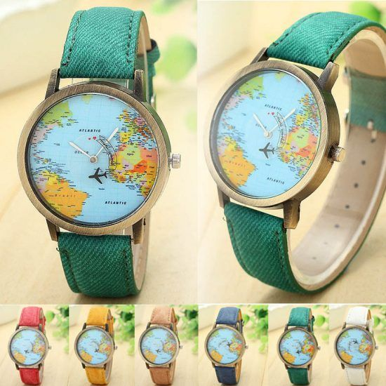 Fashion-Global-Travel-By-Plane-Map-Men-Women-Watches-Casual-Denim-Quartz-Watch-Casual-Sports-Watches